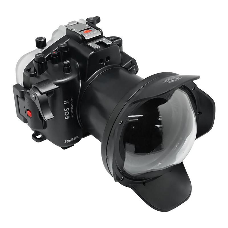 Canon EOS R waterproof case Fisheye dome port