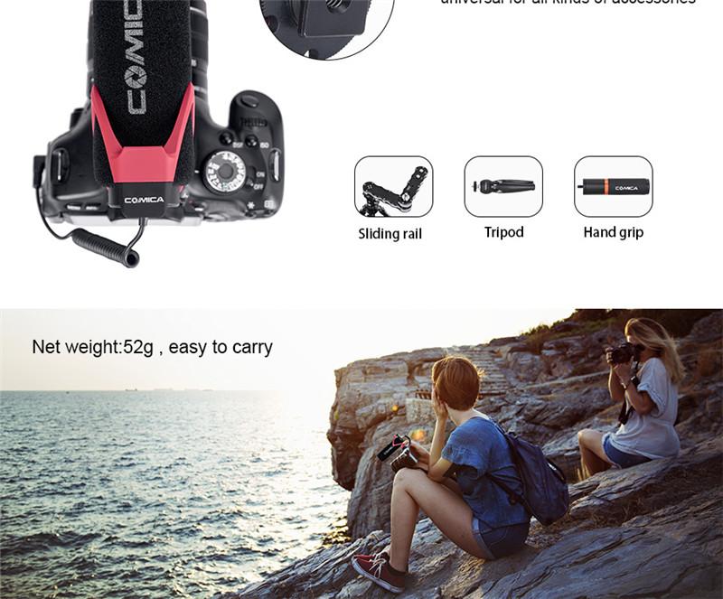 Comica CVM-V30 LITE microphone super-cardioid condenser on-camera shotgun mic