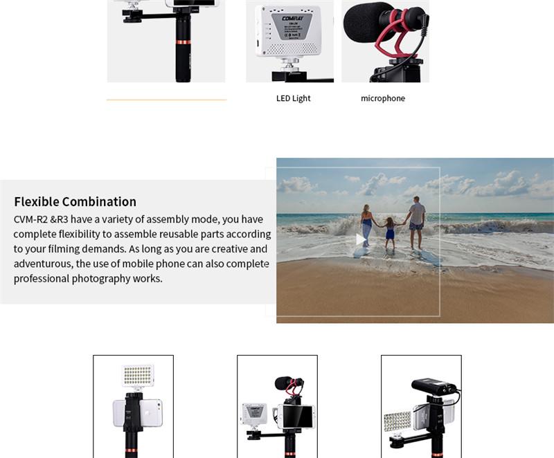 Comica CVM-R2/R3 smartphone video rig hand grip handle stabilizer kit