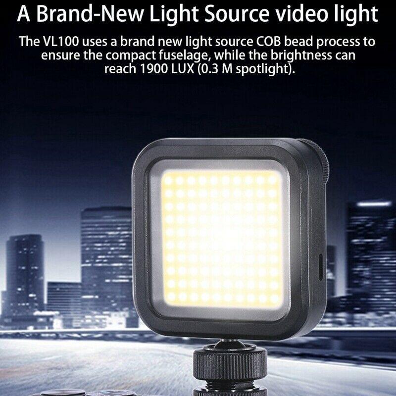 ULANZI VL100 pocket on camera LED video light
