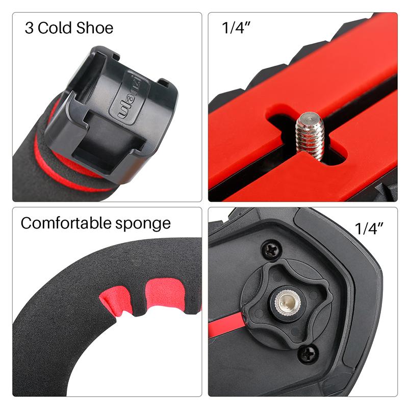 Ulanzi U-Grip pro camera stabilizer video rig cage triplle cold shoe handheld steadicam