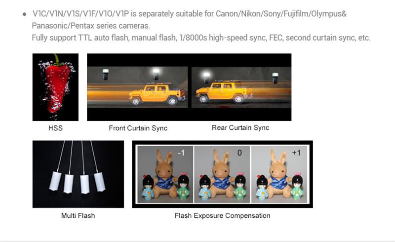 Godox V1 on-camera flash speedlight