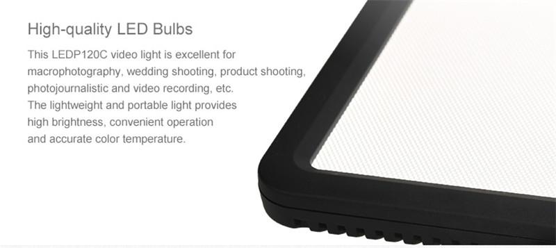 Godox Ultra Slim LEDP-120C 3300-5600k adjustable On-Camera Video Light