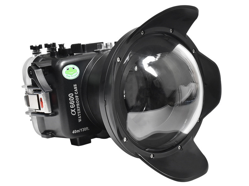 dry lens dome for Sony A6600 underwater housing waterproof case