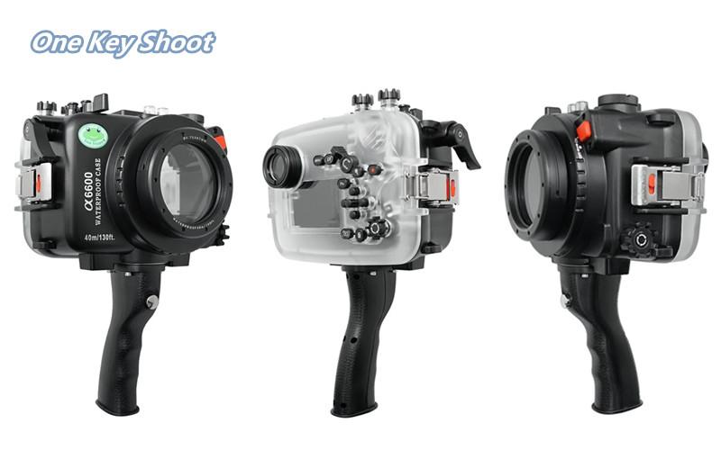 pistol grip for Sony A6600 underwater housing waterproof case