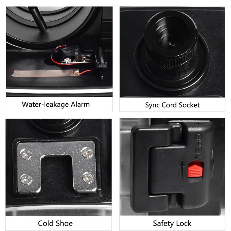 40M Sea Frogs Sony A7S III Underwater Housing Waterproof Case