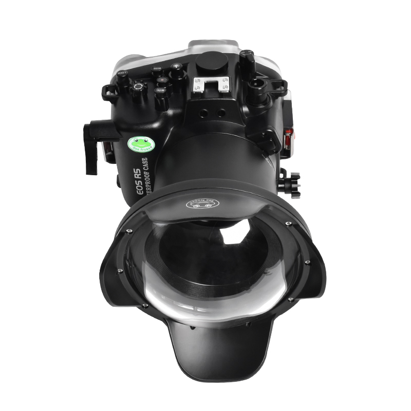 dry lens dome for Canon EOS R5 underwater housing waterproof case