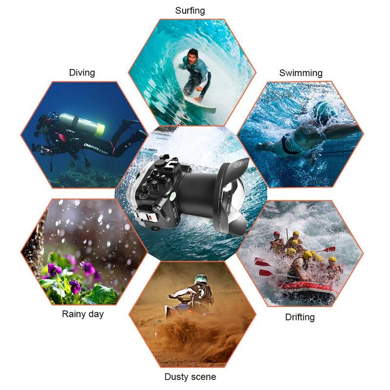 40M Sea Frogs Canon EOS R5 Underwater Housing Waterproof Case