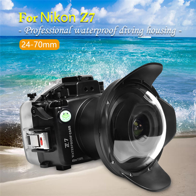40M Sea Frogs Nikon Z7 Underwater Housing Waterproof Case
