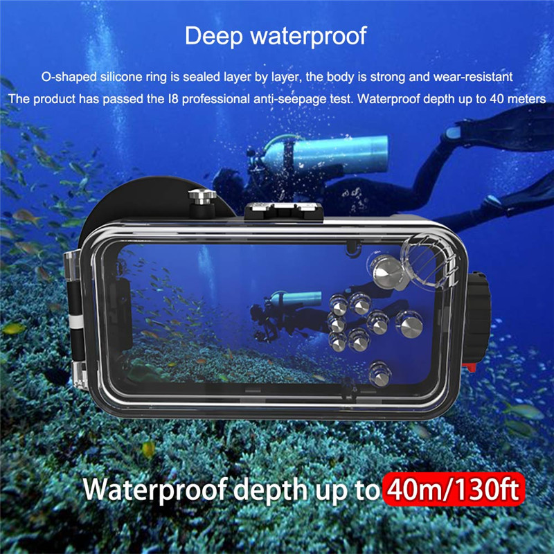 40M Sea Frogs Diving Case Underwater Housing For iPhone 11 12 pro max