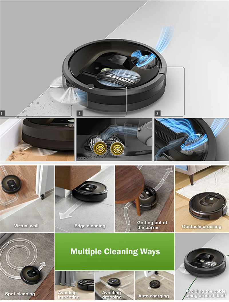 iRobot 980 Vacuum Cleaning Robot Wi-Fi Connected Sweeping Machine