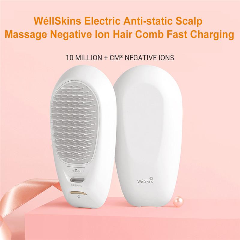 WéllSkins electric negative Ion hair comb scalp massage