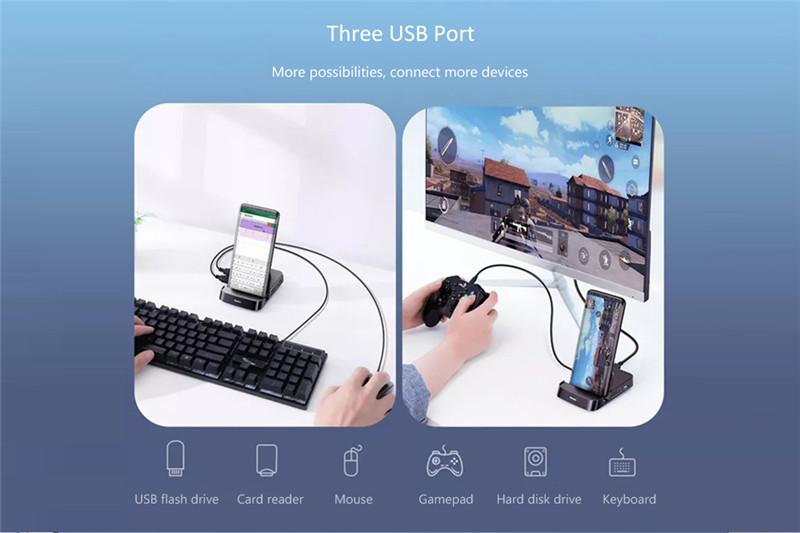 Baseus 7 in 1 Type-C HUB Docking Station Adapter