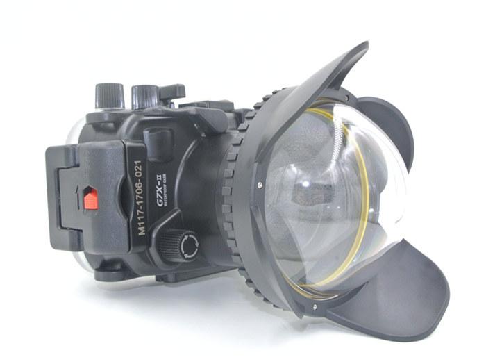 G7XII underwater housing fisheye dome