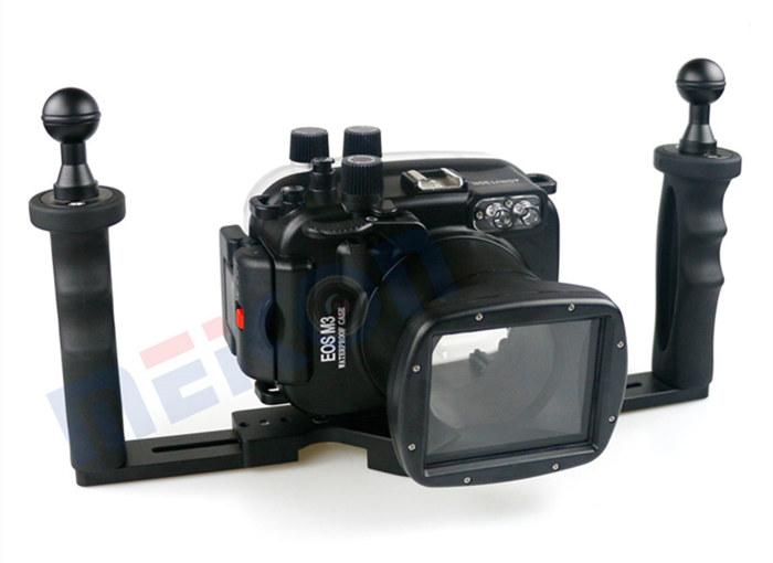 Canon EOS M3 waterproof case aluminum tray set double handles