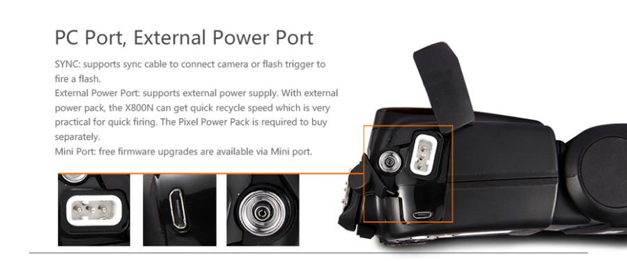 PIXEL X800N Pro E-TTL HSS Wireless Flash Speedlite for Canon