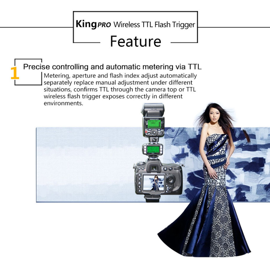 Pixel King Pro Wireless TTL Flash Trigger For Nikon