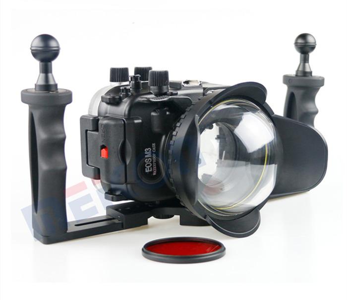 Canon M3 waterproof case aluminum tray set double handles
