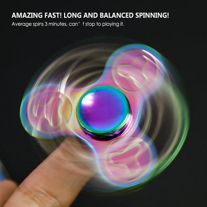 Trefoil Aluminum Fidget Spinners Fingertip Gyro