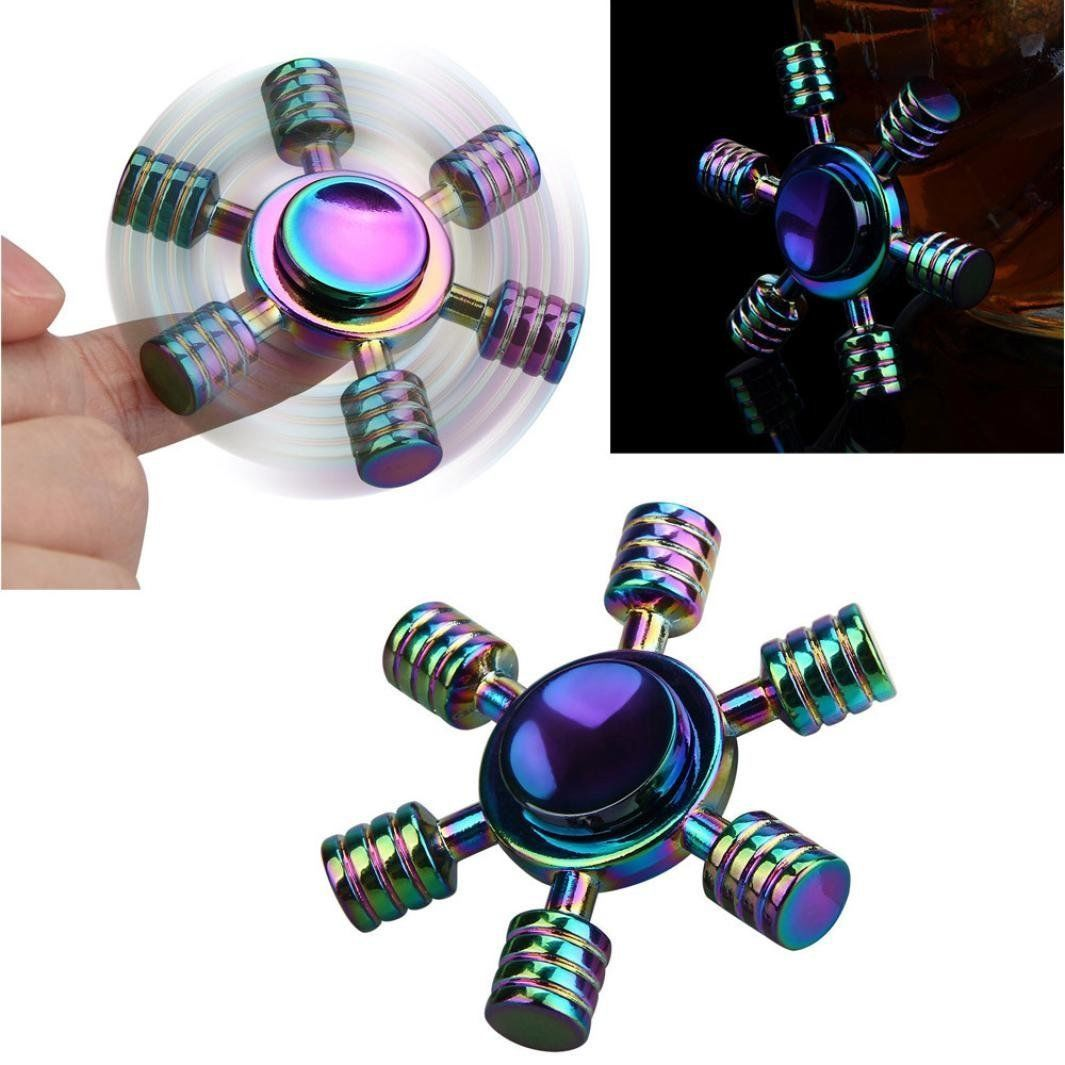 Stong Man Aluminum Fidget Spinners Fingertip Gyro Toys
