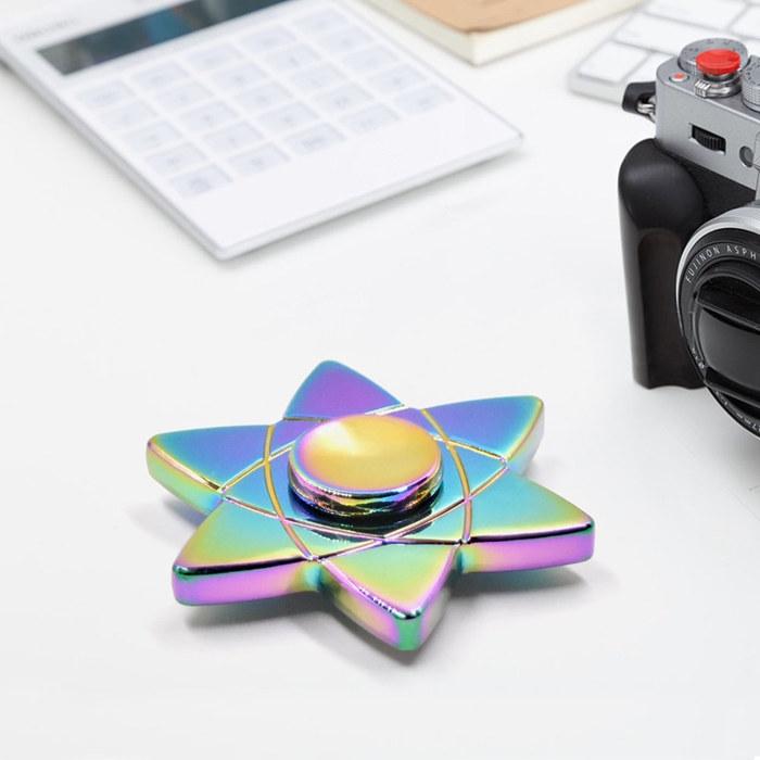 Six Star Aluminum Fidget Spinners Fingertip Gyro Toys