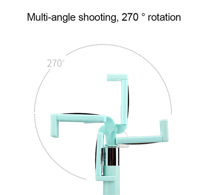 Like Mirror Mini Selfie Stick Handheld Monopod For Iphone & Android Cellphone