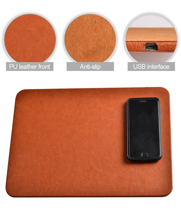 Kexu Fast Wireless Charger Mouse Pad Mat