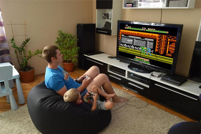 MYOHYA retro tv video game console with free card