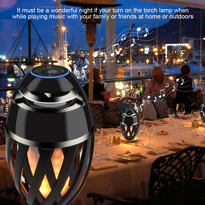 portable outdoor bluetooth flame speaker