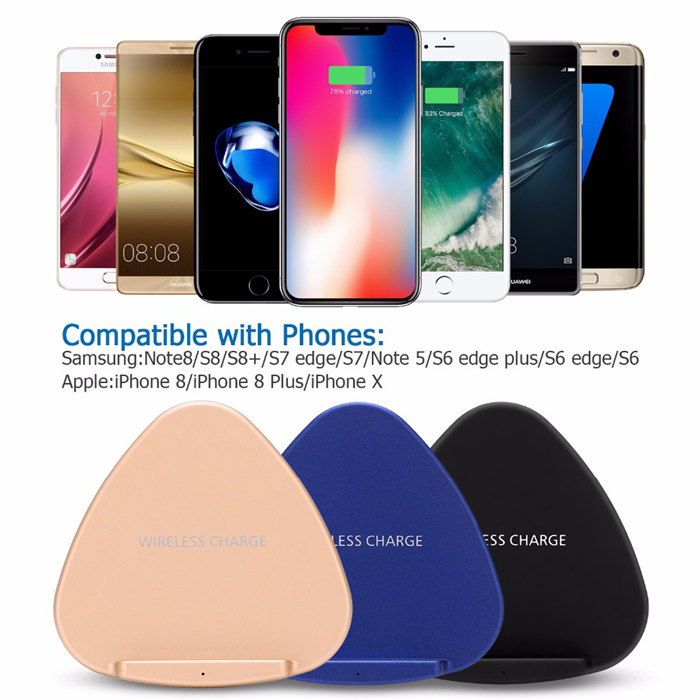 USB fast wireless charger holder for iPhone samsung android cellphone
