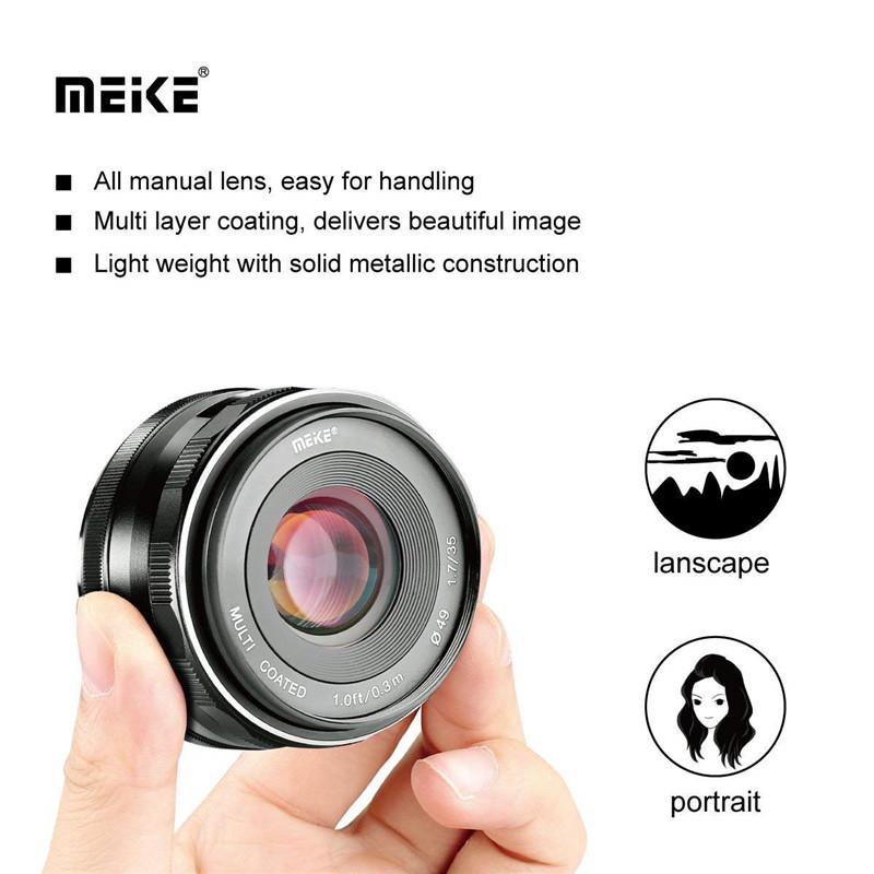 Meike 35mm F1.7 Large Aperture Manual Prime Fixed Lens APS-C for Fujifilm