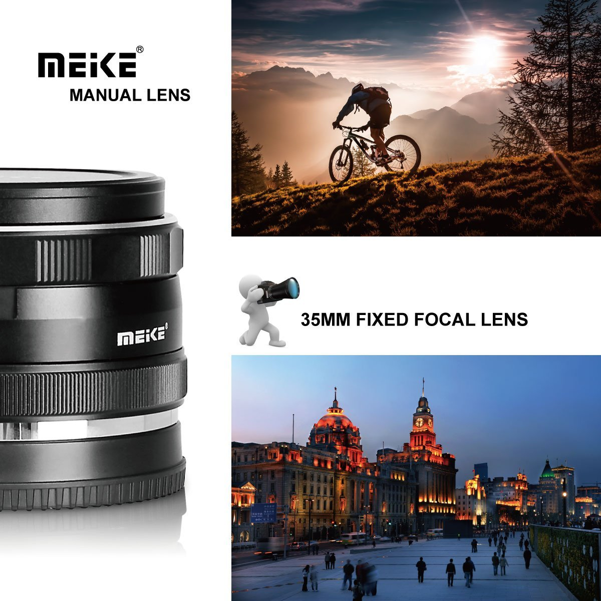 Meike 35mm F1.7 Manual Focus Lens Micro MFT M4/3 Olympus Panasonic