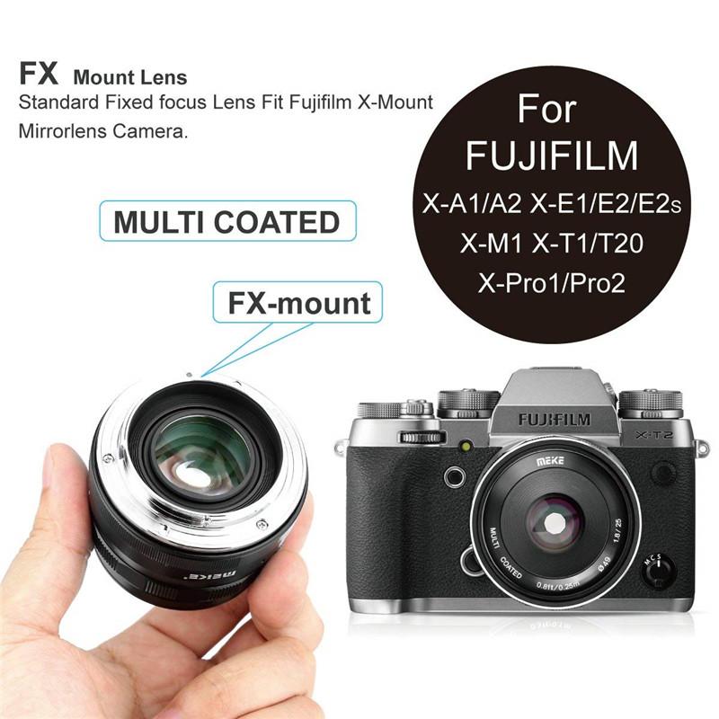 Meike 25mm f1.8 Large Aperture Wide Angle Manual Focus Lens for Fujifilm