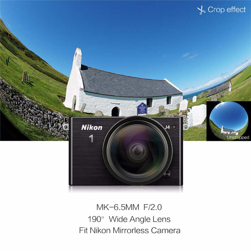 Meike 6.5mm Ultra Wide f/2.0 Fisheye Lens for Nikon N1