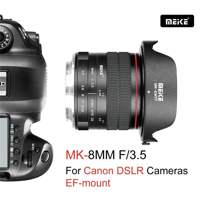 Meike 8mm f/3.5 Ultra Wide Fisheye Lens for Canon EOS DSLR Cameras