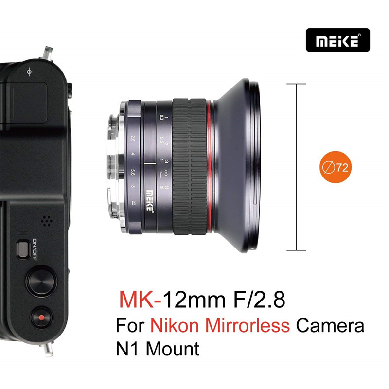 Meike 12mm f2.8 Ultra Wide Angle Fixed Lens Nikon N1/1 APS Camera