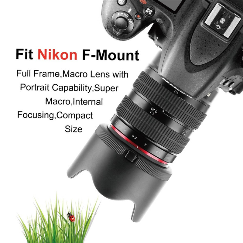 Meike 85mm f2.8 Manual Focus Full Frame Macro Lens For Nikon DSLR Camera