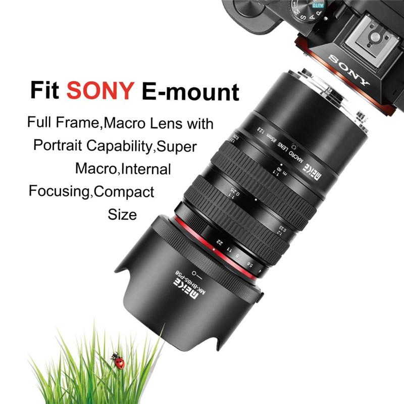 Meike 85mm f/2.8 Manual Focus macro lens for sony cameras