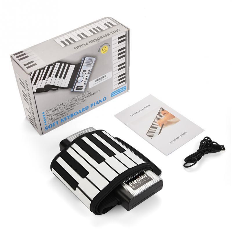 61 Keys Foldable Electronic Roll Up Keyboard Piano