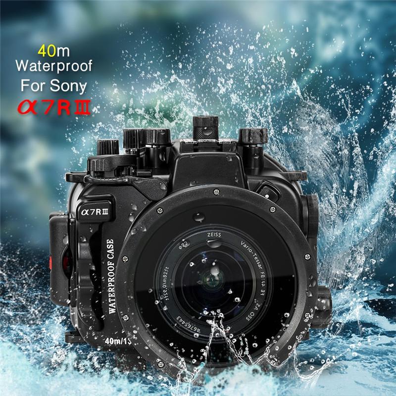 Meikon Sony A7III A7R-III Underwater Housing Waterproof Case