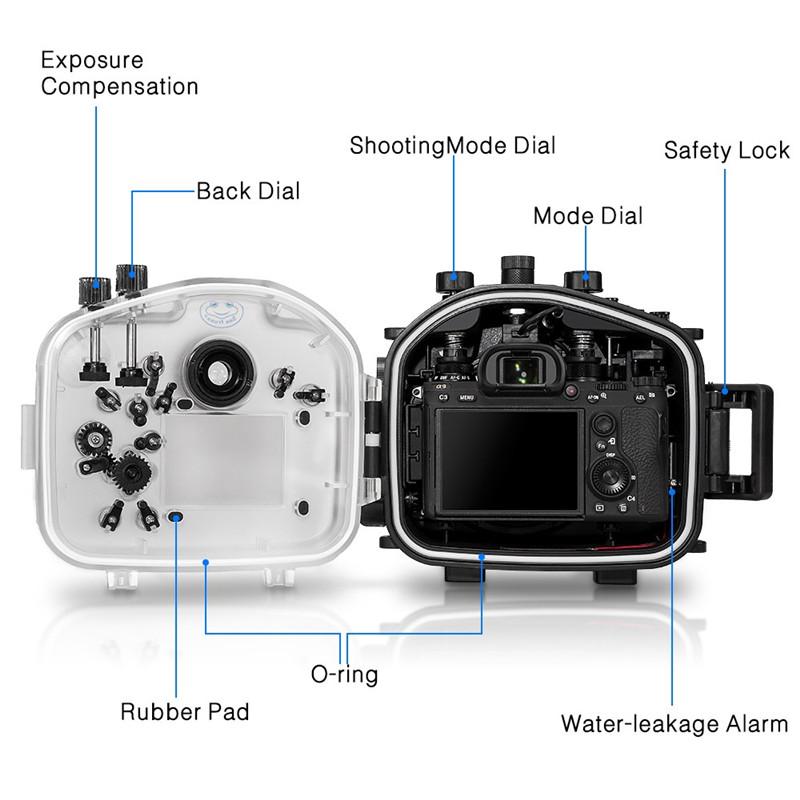 Meikon Sony A7III/A7R-III Underwater Housing