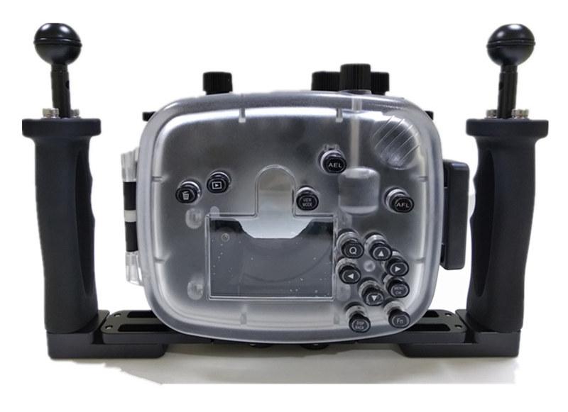 Fuji X-T20 waterproof case aluminum tray set double handles