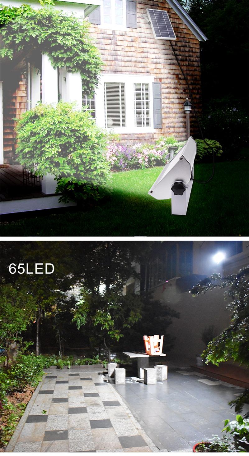 65 Leds Solar Power 1500lm 12W Spotlight Outdoor Garden Light