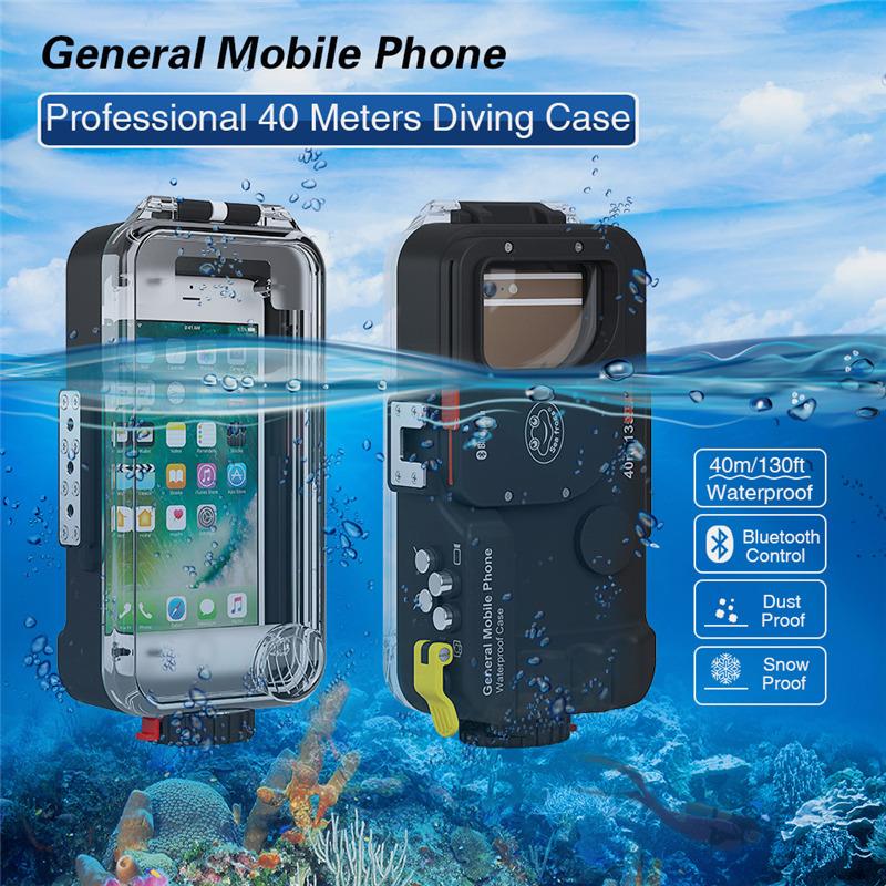 40M Meikon Waterproof Case Housing iPhone Huawei Samsung Smartphone
