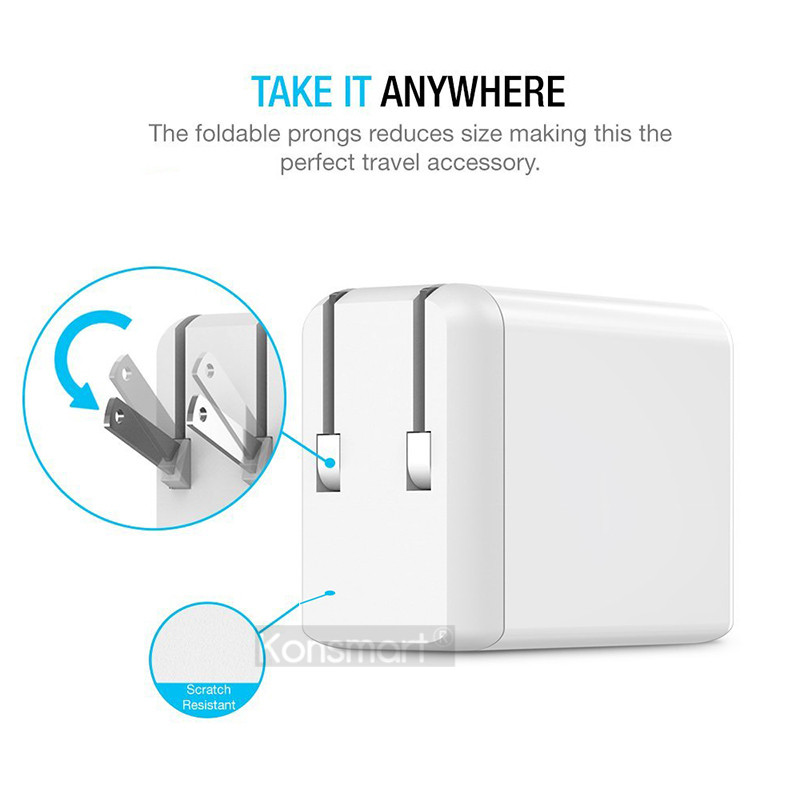 30W Triple Quick Charge 3.0 USB Fast Wall Charger