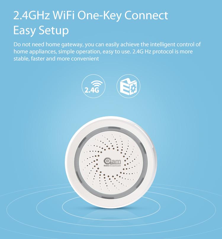 NEO Coolcam Wifi Siren Alarm Sensor and App Notification Alerts