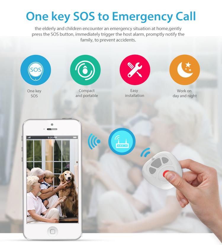 NEO COOLCAM Z-wave Plus Smart Home One Key SOS Alarm Remote Control Sensor