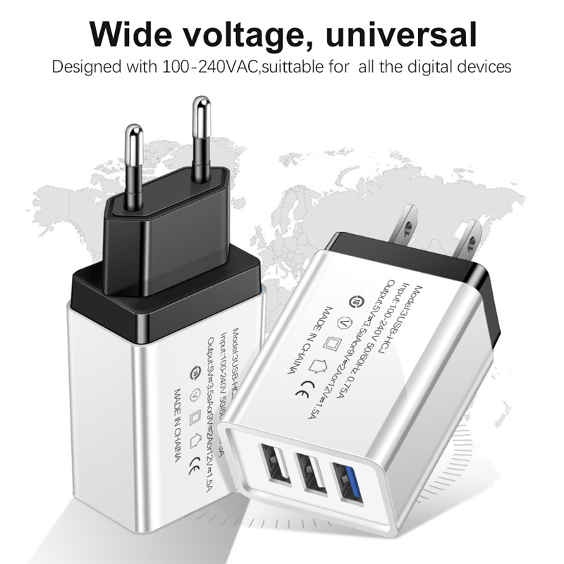 5V2A 3U USB Charger EU US Adapter traverl charger