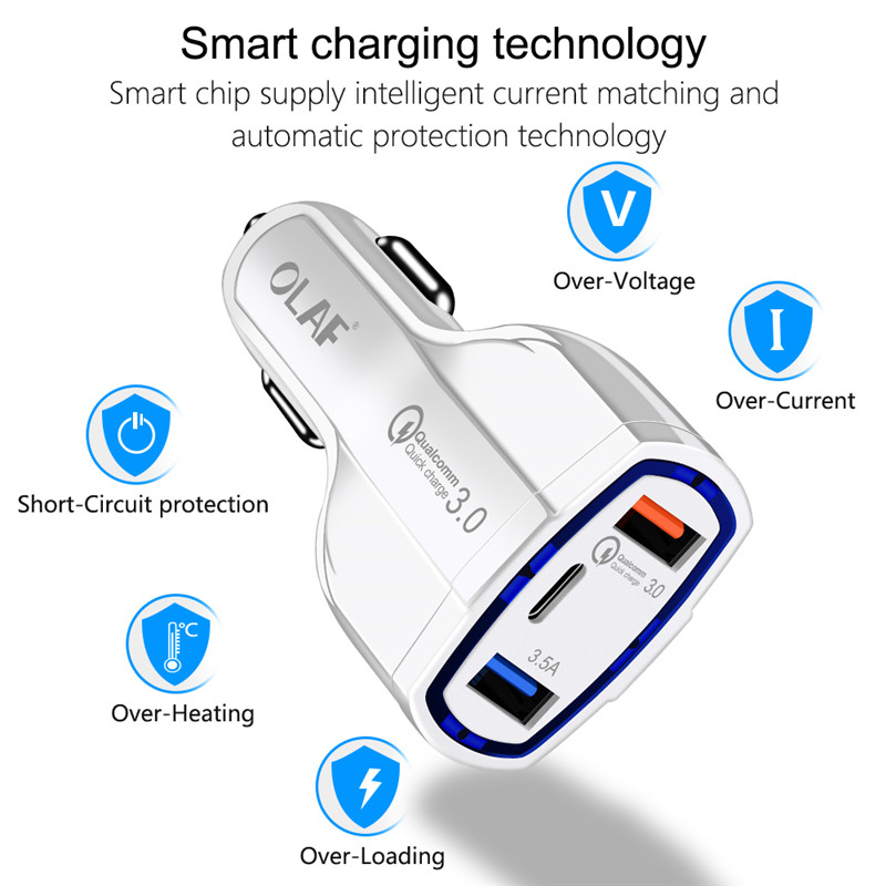 Quick charge 3.0 5V/3.5A 2 USB Ports Mobile Phone Car charger