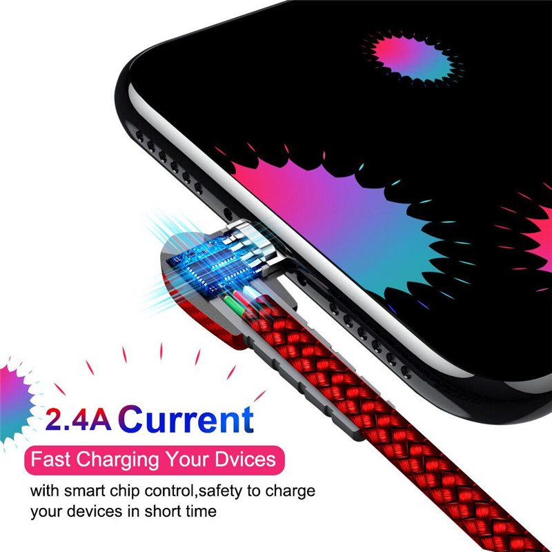 90 Degree Micro USB Cable 2.4A Fast Charger Data Cable Mobile Phone